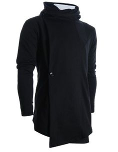 FLATSEVEN Mens Designer Turtleneck Hoodie Unbalanced Long Cardigan Jacket (CL01) Black FLATSEVEN http://www.amazon.com/dp/B009NVOCQK/ref=cm_sw_r_pi_dp_ZkDwub1S45PG5 #FLATSEVEN #Mens #Cardigan #fashion #mens