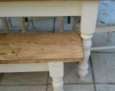 Shabby Chic Solid Pine Farmhouse Table 4 Chairs And Bench Cream On Gumtree Hi I Have A Lovely Hand Made With Of