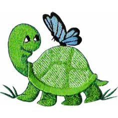 ch03 - Teeny Turtle Children's Embroidery Design