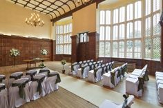 The Great Hall dressed for a ceremony