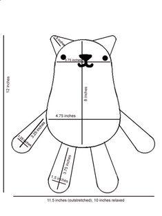 DIY Tutorial Knitted Cat Plush + Free Pattern