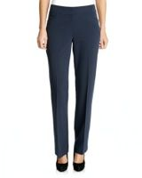 navyTailored Bootcut Trousers