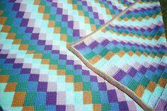BARGELLO quiltlook crocheted afghan by TeaRoseHooknNeedle on Etsy