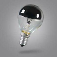 Bombilla de cúpula de espejo E14 25W - Este modelo es ideal para iluminar cualquier habitación. Esta bombilla puede quedar especialmente bien en lámparas con cubiertas que tengan una parte decorativa que se quiera resaltar. O si lo que desea es evitar el deslumbramiento de una bombilla convencional, ésta es la solución ideal.