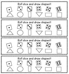 Or, make a custom dice (3-8) and have students draw and name the shape based on the number of sides