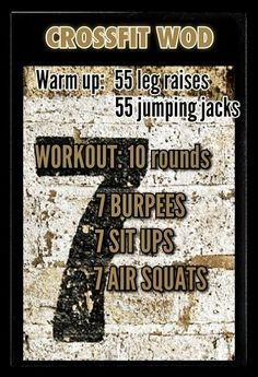 Great workout! #crossfit #Fitness #Workout Pin/Via - More amazing and interestin news about CrossFit at: http://experience-crossfit.com/crossfit-wod-workout-of-the-day/