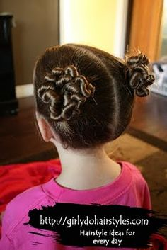 My oldest LOVES this one!  http://www.girlydohairstyles.com/search/label/Messy%20Buns