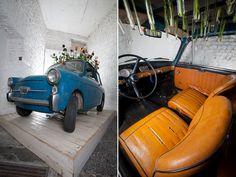 Manuel Felisi 'Giardinetta', transforming a vintage Autobianchi into a giant vase.