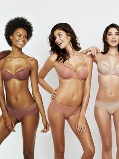 Thankfully, lingerie brand ThirdLove is making the search for a nude bra a little bit easier. Yesterday, the company launched The New Nakeds, a collection of bras and underwear available in five diverse shades inspired by different skin tones, from Naked 1 (a pale, milky hue) to Naked 5 (a deep black-brown color).