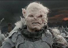 LOTR 30 Challenge Day 6: Ugliest Orc= Gothmog This guy is hands down, the ugliest orc in all of Middle-Earth! I am ashamed to have him on this board! :P