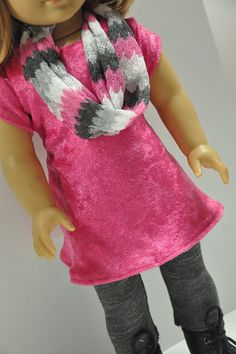 American Girl Doll Clothes Soft Shiny Pink Knit by CircleCSewing, $18.50