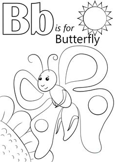 Cartoon Butterflies Coloring Pages Butterfly Color Pages Pathtalk. Cartoon Butterflies Coloring Pages Cartoon Butterfly Coloring Pages. Letter B Coloring Pages, Bee Coloring Pages, Butterfly Coloring Page, Preschool Coloring Pages, Free Printable Coloring Pages, Coloring Books, Coloring Sheets, Letter B Crafts, Letter B Activities