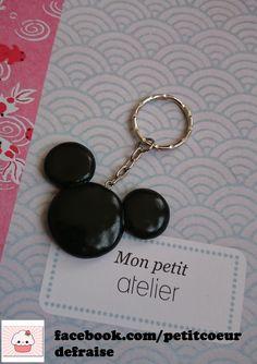 porte clés accessoire de mode fimo noire mickey disney black https://facebook.com/petitcoeurdefraise