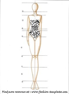 Fashion Paper Doll Template   All you need is to follow that textbook.
