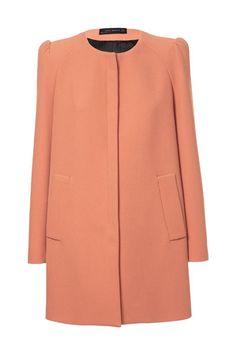 Orange Appeal Bold shoulder coat, Zara