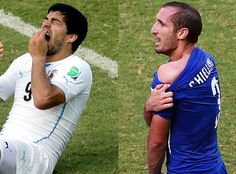 Giorgio Chiellini bite attack by Luis Suarez: Italy out! Internet scoffs at Suarez bite attack after the scandal-game series the biter threatens the lock