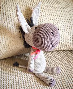 Eugene the donkey!! pattern by #ittooktwo #crochet #micacrochet #amigurumi #crochetamigurumi #donkeyamigurumi#handmade#instacrochet by micacrochet