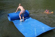 Love this. You can lay, jump, sit, stand on this and you won't fall in the water!
