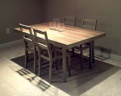 DIY Ikea hacked table inspired by a Crate  Barrel table