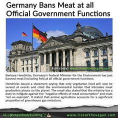 Repost: @veganbodybuilding -  German cuisine might be most famous for its sausages and schnitzels but a new government rule means attendees at official government functions will instead see a lot more environmentally-friendly food on their plates in future. _ Barbara Hendricks Germanys Federal Minister for the Environment has just banned meat (including fish) at all their official government functions. _ Hendricks issued a statement saying that only vegetarian food will now be served at the…