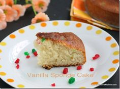 Basic Vanilla Sponge cake recipe - No Egg - No butter - Recipe with step wise pictures