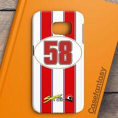Marco Simoncelli 58 Motogp Honda Team Samsung Galaxy S7 Edge Case   casefantasy
