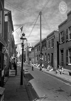 Stoop Sitting, Baltimore, Maryland, circa 1930
