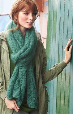 Lana Grossa ZARTE LOCHMUSTER-STOLA Silkhair - FILATI Accessoires No. 16 - Modell 2 | FILATI.cc WebShop