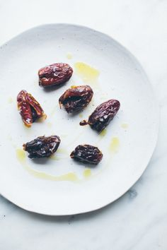 Roasted Salted Dates with Bittersweet Chocolate // NotWithoutSalt.com