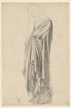 Study for the Figure of Stratonice Jean-Auguste-Dominique Ingres 1834–40 Graphite, black chalk, and rubbed charcoal
