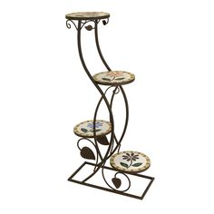 Devina Four-Tier Plant Stand Beyond The Rack, Plant Stands, Wrought Iron, Garden Ideas, Gardening, Outdoor Furniture, Table, Plants, Design