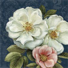 Floral Damask on Indigo 2