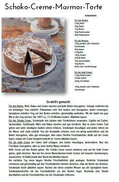 Schoko Creme Marmor Torte 1