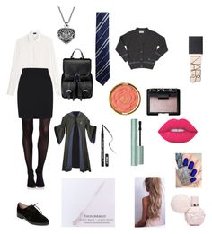 """""""Untitled #96"""" by evie-mowbray on Polyvore featuring Joseph, SPANX, George, French Connection, CO, Aspinal of London, NARS Cosmetics, Milani, Kat Von D and Too Faced Cosmetics"""