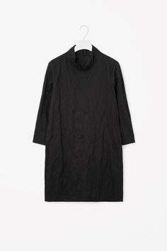 COS image 2 of Crinkled dress in Black