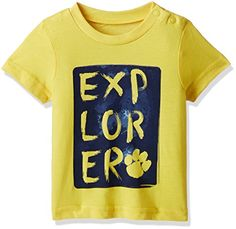 Mothercare Baby Boys' T-Shirt (52052314001_3-6 Months_Yellow)