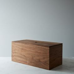 Walnut Bread Box. Not only does it look sleek, it supposedly keeps bread fresher for a longer period of time!