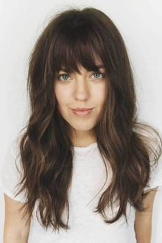 Image result for full bangs fine hair