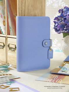 Periwinkle Personal Planner Kit (In Stock) Webster's Pages Color Crush • FREE WASHI TAPE
