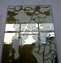 laser cut metal glass laminated | brass laminate | ice crack glass | cnc laminated glass