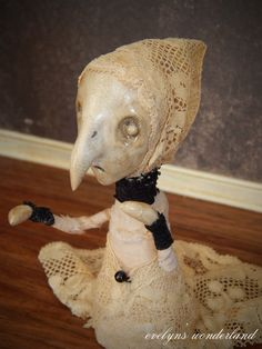 No. 1 Ghost Witchy Birdling Art Doll by by EvelynsWonderland, $95.00