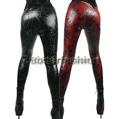 Sexy Strech Glanz Wetlook Leggings mit Zickzack Muster rot oder  #Stretch #Glanz #Wetlook #Leggings #Leggins #Legings #Legins #Schnürungen 16.90 EUR inkl. 19% MwSt. zzgl. Versand