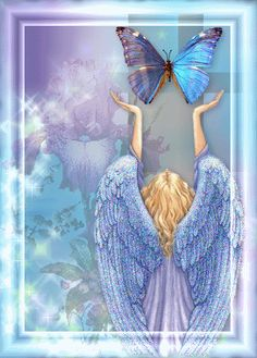 gif ange bleu · The darkness purple Gifs, Angel Guide, I Believe In Angels, Angel Prayers, Angels Among Us, Glitter Graphics, Angels In Heaven, Angel Art, Weird And Wonderful