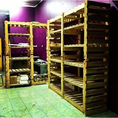 I used about ten pieces of pallets on a shelf. It is 7.5ft height x 8ft length x 2ft width. I made this by cutting the pallet half as the vertical (side and middle) part. And the other half is…
