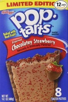 chocolate strawberry pop tarts