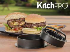 Mad & Drikke - KitchPro Hamburgerpresser, Lav supergode, fyldte hamburgerbøffer i tre nemme trin!