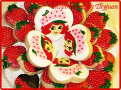 Inspirations by Thyjuan LLC.: Strawberry Shortcake Cookies