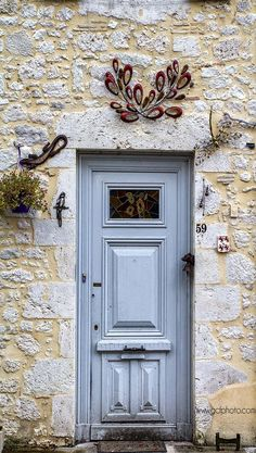 Blue doors in France. French style decor for your walls. Click thru now to see my blue door collection.