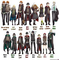 more anime Potter