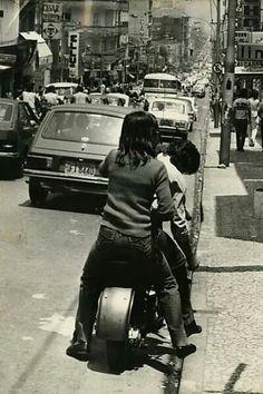 Outubro de 1977 - Rua Augusta.